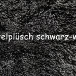 Zottelfell - Schwarz Weisse Spitzen (+10Euro)